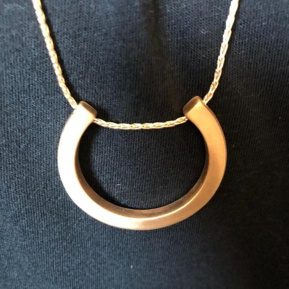 Adjustable Halfmoon Necklace Half Moon Pendant